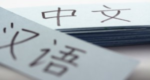flash/vocabulary cards with chinese characters